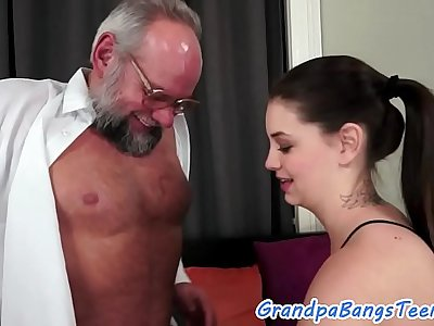 Alluring 18yo screwed by her senior stepdad