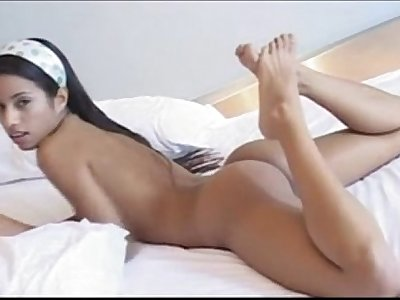 Lupe fuentes on the bed - littlelupe.easyxtubes.com - 10 min